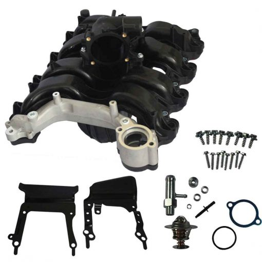 Upper Intake Manifold With Thermostat & Gaskets For 07-08 Ford E-150 E-250 F-150 4.6L V8 Replaces 7L3Z-9424-F