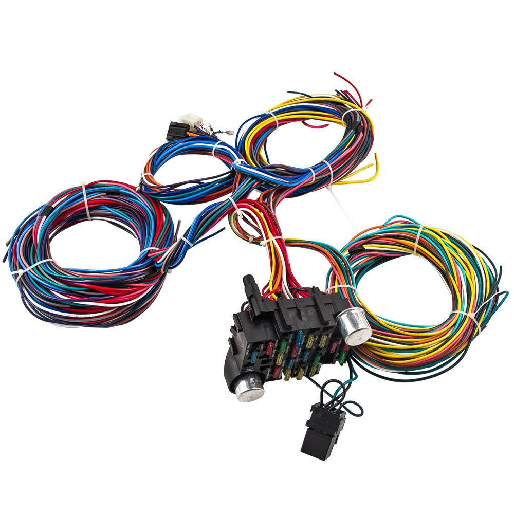 [DIAGRAM_3ER]  Wiring Harness Kit 21 Circuit Long Wires Standard Color Wiring Harness Kit  for Chevy Mopar Hotrods Ratrods Ford Chrysler Universal | Auto Parts Prodigy | Ford Wiring Harness Kit |  | Auto Parts Prodigy